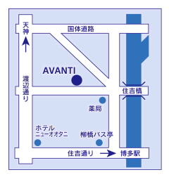 AVANTIのアクセス